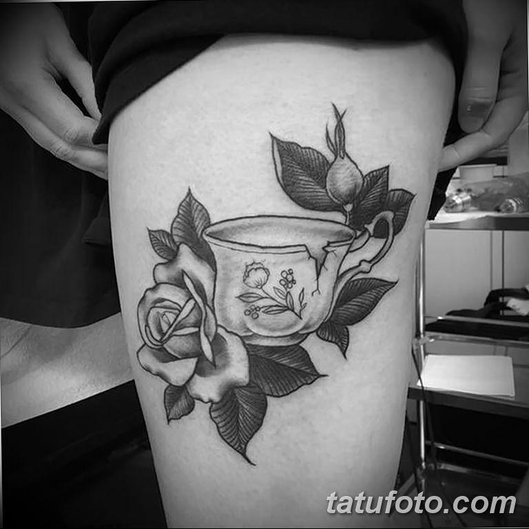 Фото тату белые цветы18.06.2019 №224 - tattoo white flowers - tatufoto.com