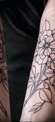 Фото тату белые цветы18.06.2019 №228 – tattoo white flowers – tatufoto.com