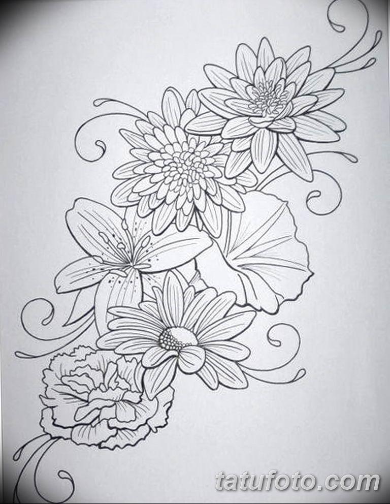Фото тату белые цветы18.06.2019 №231 - tattoo white flowers - tatufoto.com