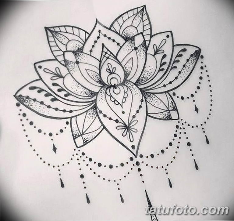 Фото тату белые цветы18.06.2019 №235 - tattoo white flowers - tatufoto.com