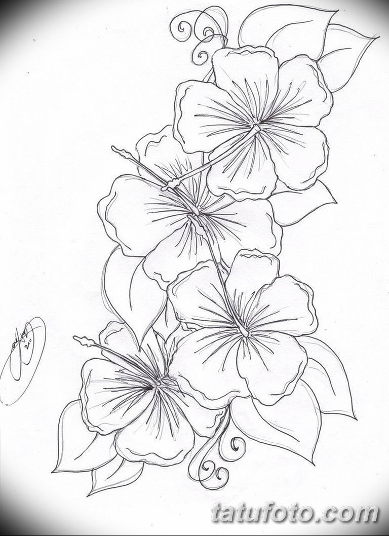 Фото тату белые цветы18.06.2019 №238 - tattoo white flowers - tatufoto.com