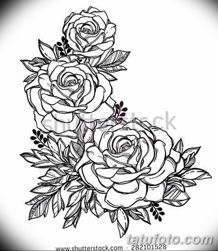 Фото тату белые цветы18.06.2019 №239 - tattoo white flowers - tatufoto.com