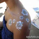 Фото тату белые цветы18.06.2019 №240 - tattoo white flowers - tatufoto.com