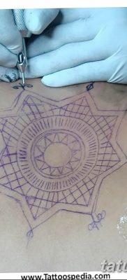Фото тату восьмиконечная звезда 11.06.2019 №009 – tattoo eight-pointed star – tatufoto.com