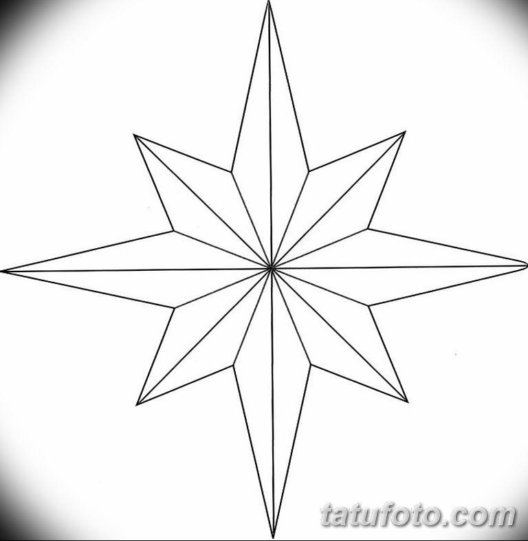 Фото тату восьмиконечная звезда 11.06.2019 №015 - tattoo eight-pointed star - tatufoto.com
