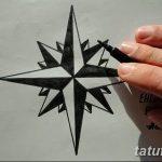 Фото тату восьмиконечная звезда 11.06.2019 №028 - tattoo eight-pointed star - tatufoto.com