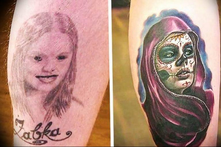 Фото тату вызывающая улыбку 25.06.2019 №001 - unsuccessful tattoos - tatufoto.com