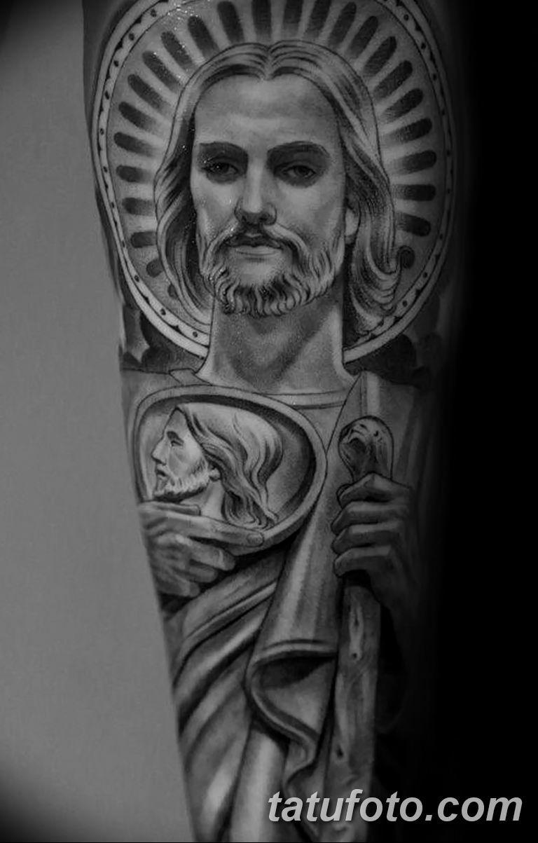 Фото тату икона святого 29.06.2019 №005 - tattoo icon of saint - tatufoto.com