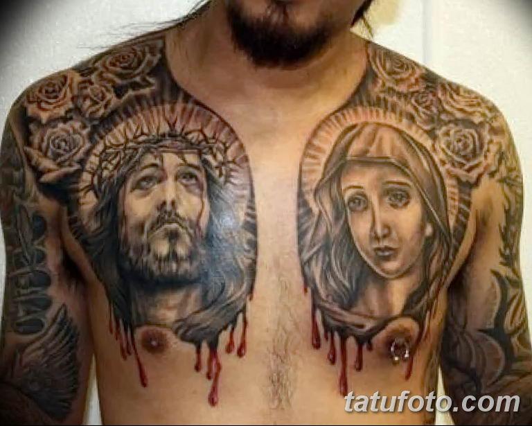 Фото тату икона святого 29.06.2019 №011 - tattoo icon of saint - tatufoto.com