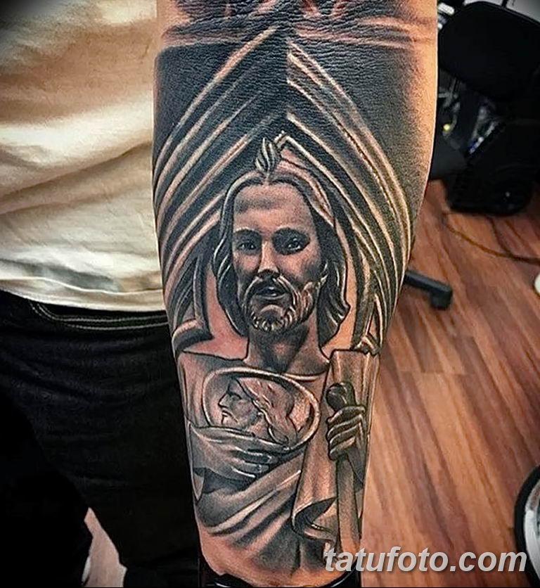 Фото тату икона святого 29.06.2019 №018 - tattoo icon of saint - tatufoto.com