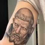 Фото тату икона святого 29.06.2019 №024 - tattoo icon of saint - tatufoto.com