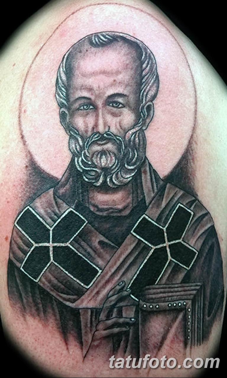 Фото тату икона святого 29.06.2019 №026 - tattoo icon of saint - tatufoto.com