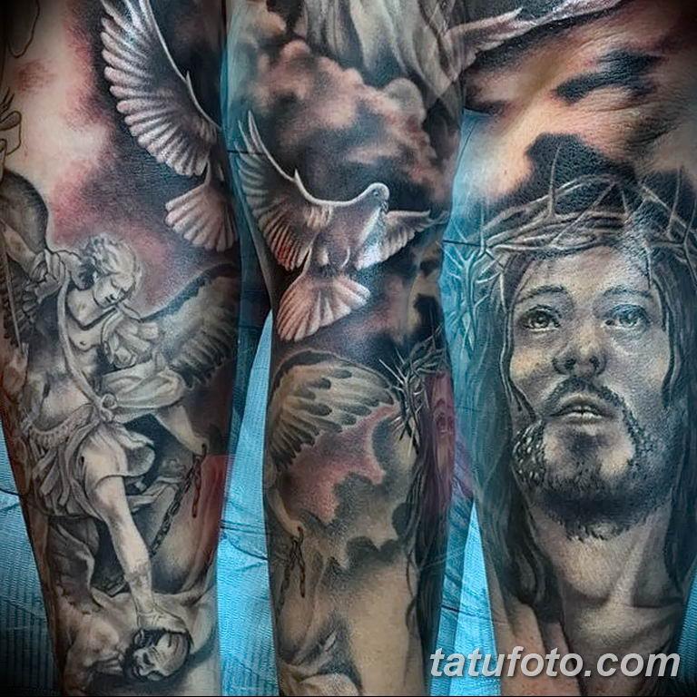Фото тату икона святого 29.06.2019 №027 - tattoo icon of saint - tatufoto.com