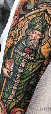 Фото тату икона святого 29.06.2019 №040 – tattoo icon of saint – tatufoto.com