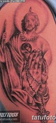 Фото тату икона святого 29.06.2019 №041 – tattoo icon of saint – tatufoto.com