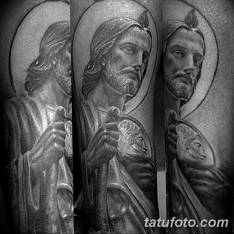 Фото тату икона святого 29.06.2019 №061 - tattoo icon of saint - tatufoto.com