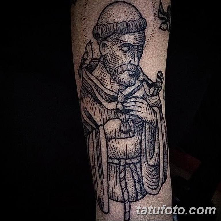 Фото тату икона святого 29.06.2019 №065 - tattoo icon of saint - tatufoto.com