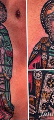 Фото тату икона святого 29.06.2019 №066 – tattoo icon of saint – tatufoto.com