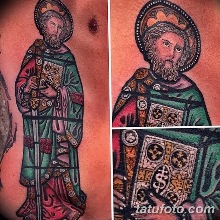 Фото тату икона святого 29.06.2019 №066 - tattoo icon of saint - tatufoto.com