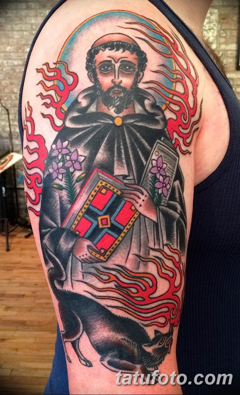 Фото тату икона святого 29.06.2019 №073 - tattoo icon of saint - tatufoto.com
