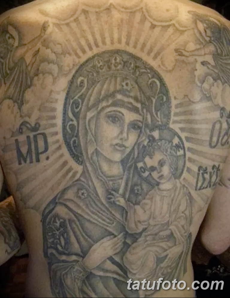 Фото тату икона святого 29.06.2019 №080 - tattoo icon of saint - tatufoto.com