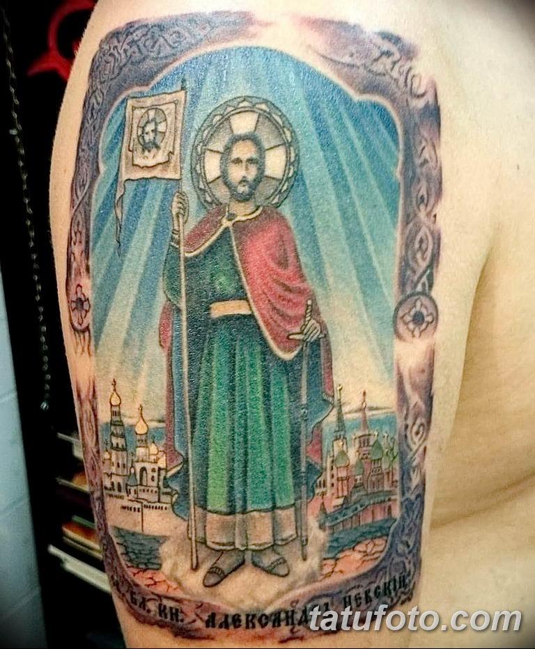 Фото тату икона святого 29.06.2019 №081 - tattoo icon of saint - tatufoto.com