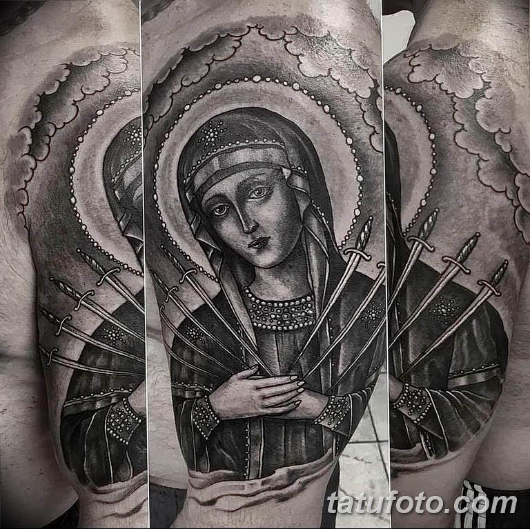 Фото тату икона святого 29.06.2019 №088 - tattoo icon of saint - tatufoto.com