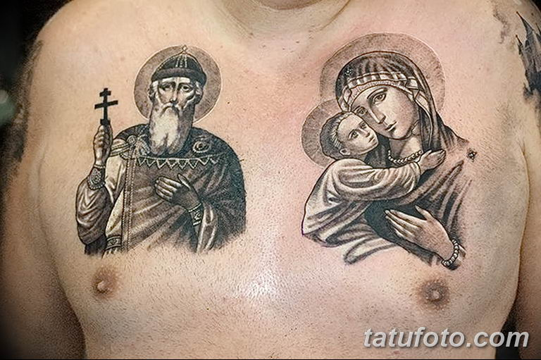 Фото тату икона святого 29.06.2019 №092 - tattoo icon of saint - tatufoto.com