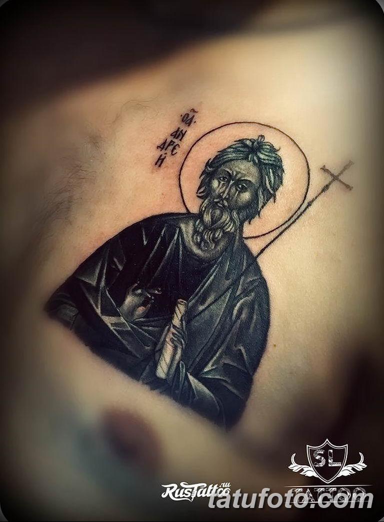 Фото тату икона святого 29.06.2019 №095 - tattoo icon of saint - tatufoto.com