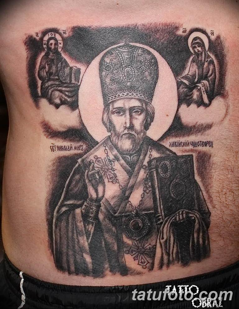 Фото тату икона святого 29.06.2019 №097 - tattoo icon of saint - tatufoto.com