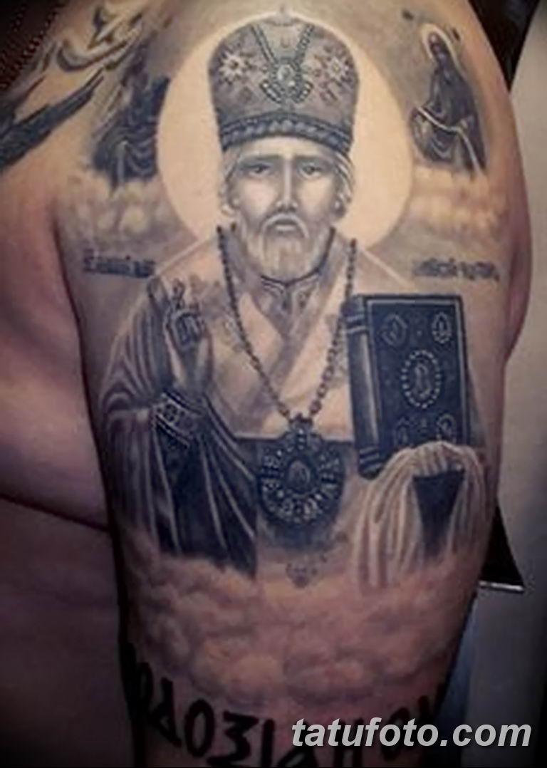 Фото тату икона святого 29.06.2019 №114 - tattoo icon of saint - tatufoto.com