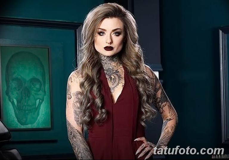 Фото тату мастер девушка 18.06.2019 №009 - tattoo master woman - tatufoto.com