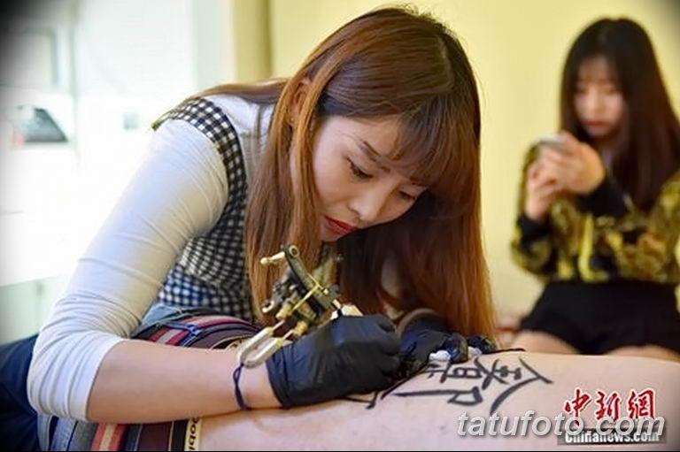 Фото тату мастер девушка 18.06.2019 №024 - tattoo master woman - tatufoto.com