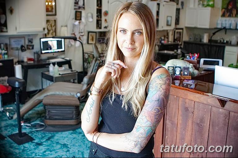 Фото тату мастер девушка 18.06.2019 №028 - tattoo master woman - tatufoto.com