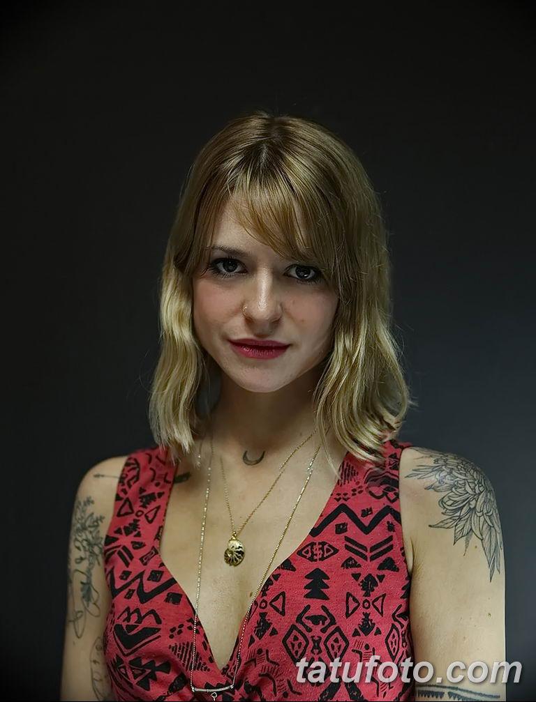 Фото тату мастер девушка 18.06.2019 №039 - tattoo master woman - tatufoto.com