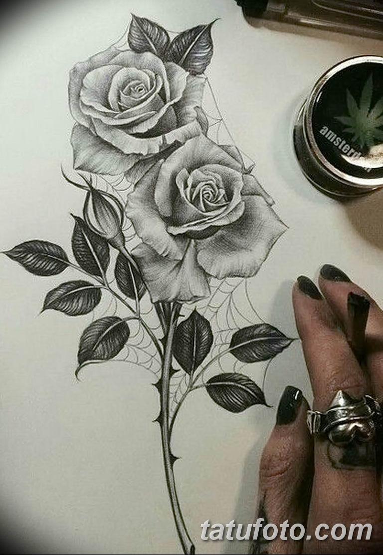 Фото тату роза с шипами 26.06.2019 №022 - spiked rose tattoo - tatufoto.com