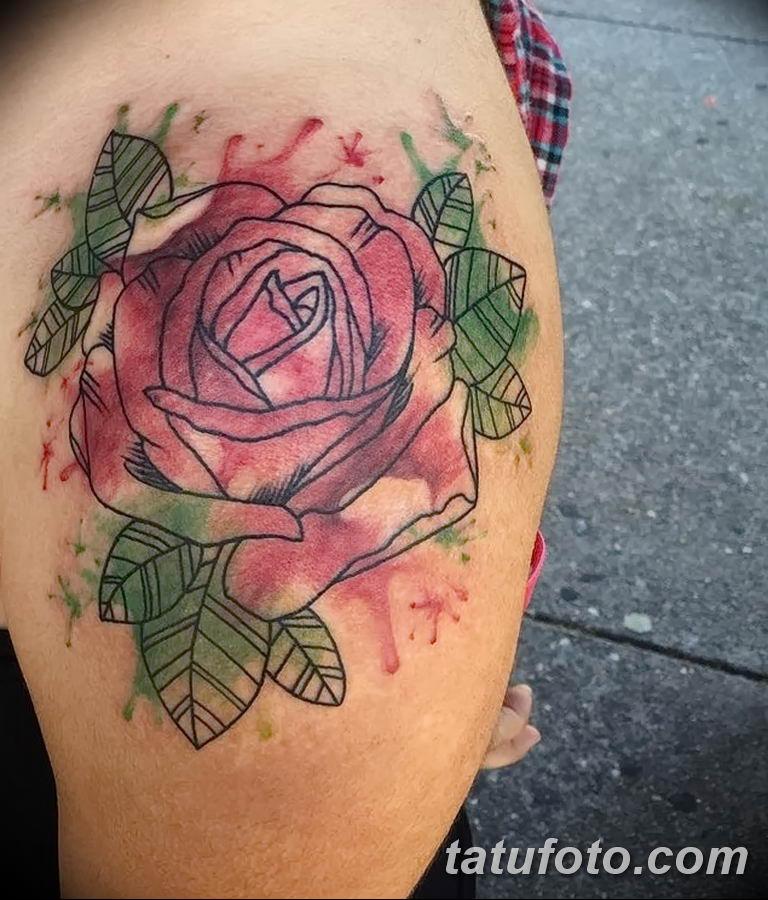 Фото тату роза с шипами 26.06.2019 №026 - spiked rose tattoo - tatufoto.com