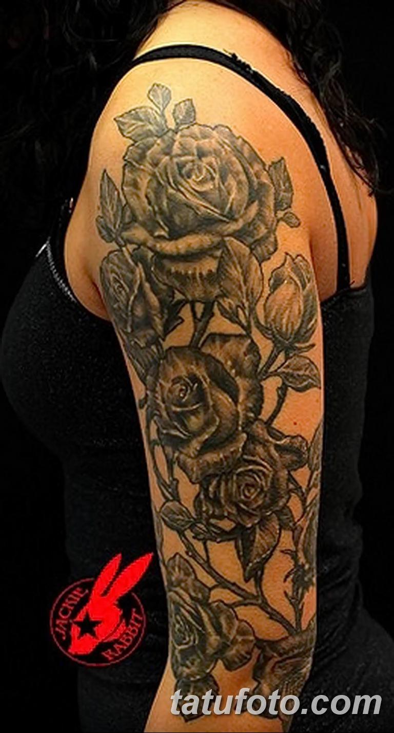 Фото тату роза с шипами 26.06.2019 №029 - spiked rose tattoo - tatufoto.com