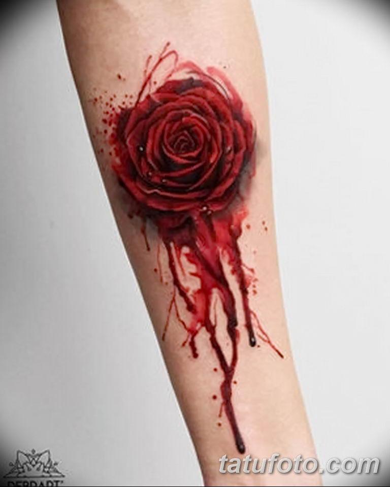 Фото тату роза с шипами 26.06.2019 №032 - spiked rose tattoo - tatufoto.com