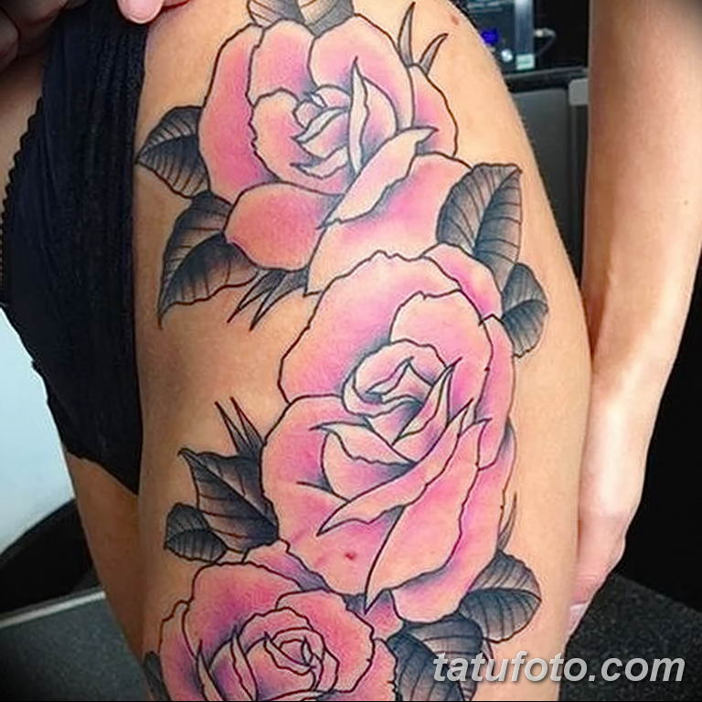 Фото тату роза с шипами 26.06.2019 №045 - spiked rose tattoo - tatufoto.com