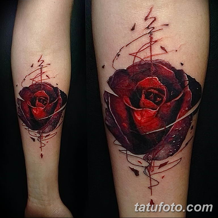 Фото тату роза с шипами 26.06.2019 №048 - spiked rose tattoo - tatufoto.com