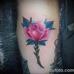 Фото тату роза с шипами 26.06.2019 №082 - spiked rose tattoo - tatufoto.com
