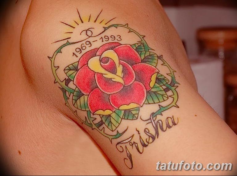 Фото тату роза с шипами 26.06.2019 №089 - spiked rose tattoo - tatufoto.com