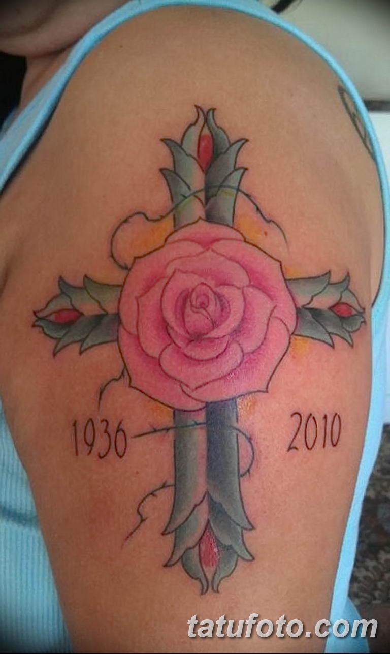Фото тату роза с шипами 26.06.2019 №090 - spiked rose tattoo - tatufoto.com