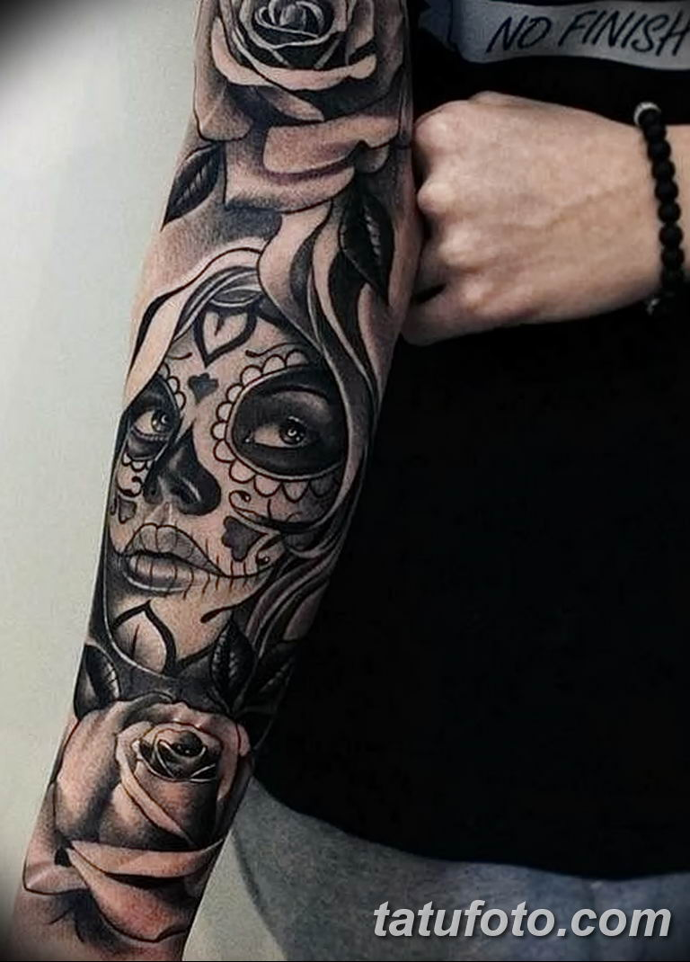 Фото тату рукав 11.06.2019 №011 - Tattoo sleeve - tatufoto.com