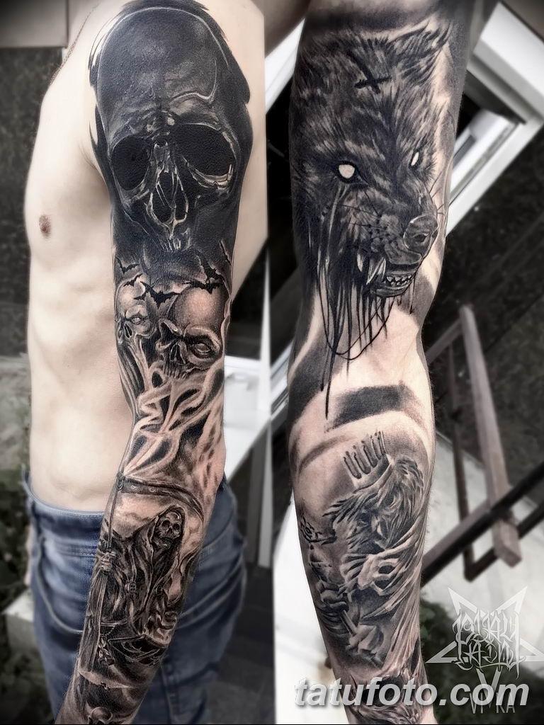 Фото тату рукав 11.06.2019 №012 - Tattoo sleeve - tatufoto.com
