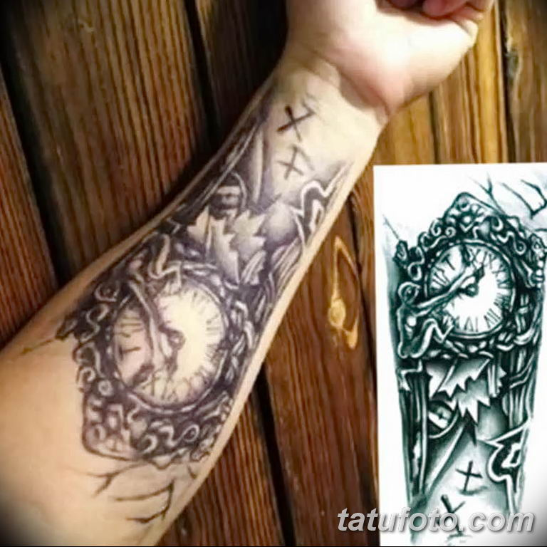 Фото тату рукав 11.06.2019 №017 - Tattoo sleeve - tatufoto.com