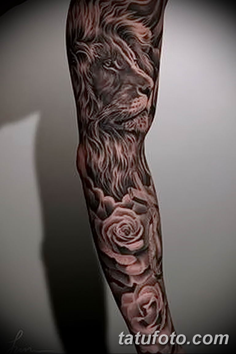 Фото тату рукав 11.06.2019 №031 - Tattoo sleeve - tatufoto.com