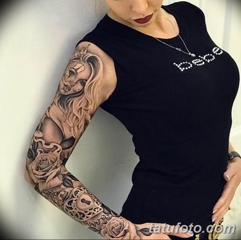 Фото тату рукав 11.06.2019 №035 - Tattoo sleeve - tatufoto.com