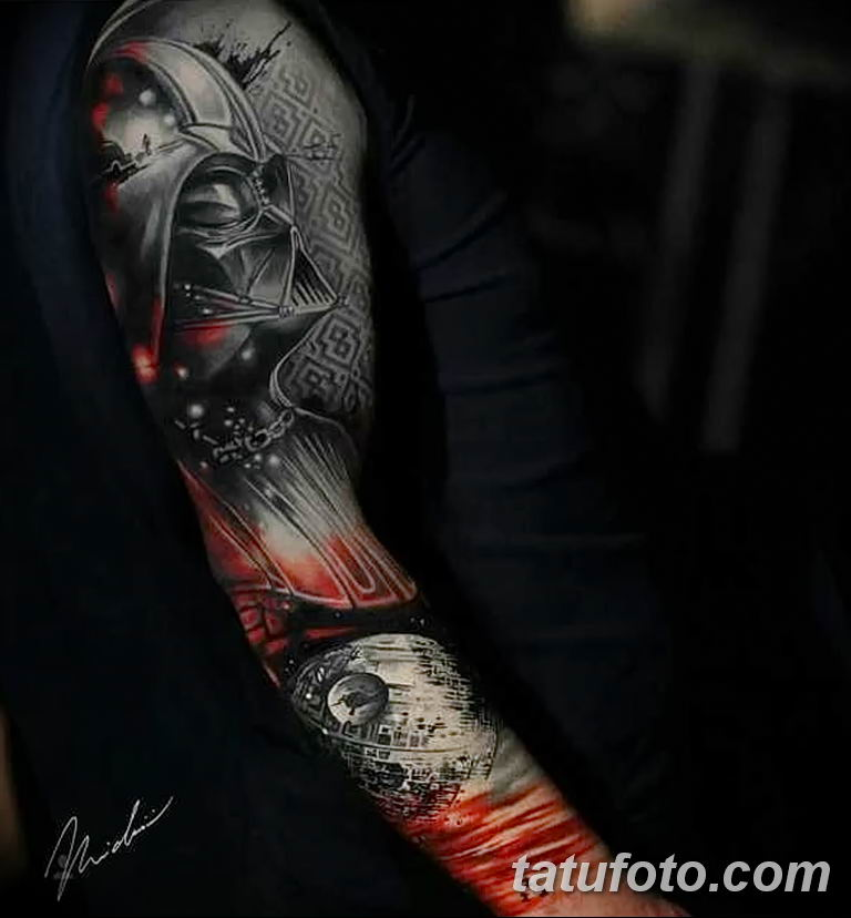 Фото тату рукав 11.06.2019 №036 - Tattoo sleeve - tatufoto.com